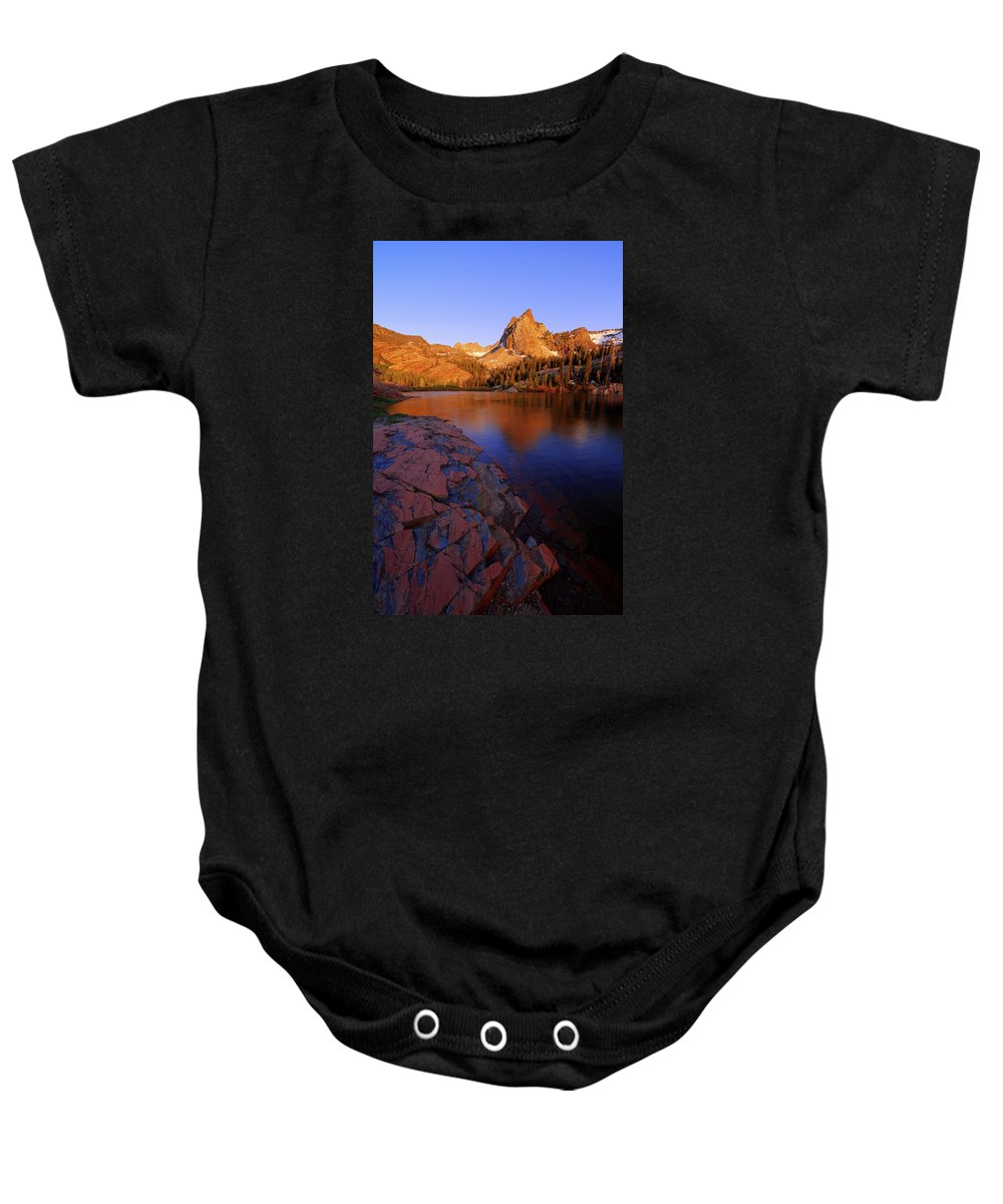 Once Upon A Rock Baby Onesie featuring the photograph Once Upon A Rock by Chad Dutson