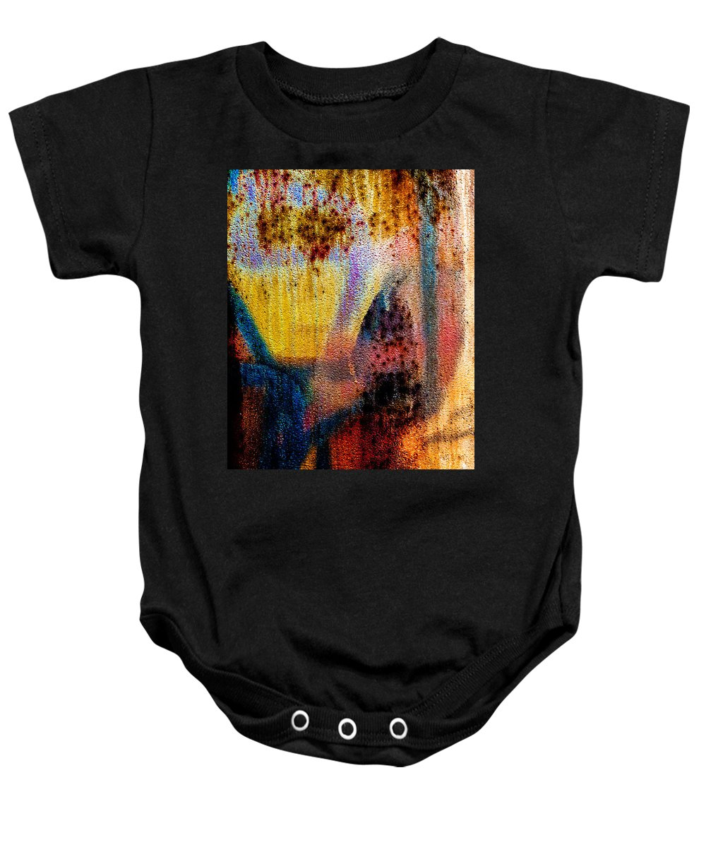 Abstract Baby Onesie featuring the photograph One Half by Bob Orsillo