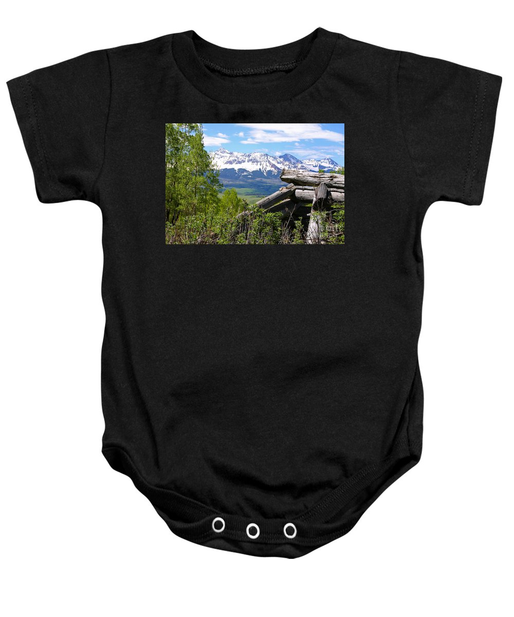Colorado Baby Onesie featuring the photograph Only The Structures Crumble by Bob Hislop
