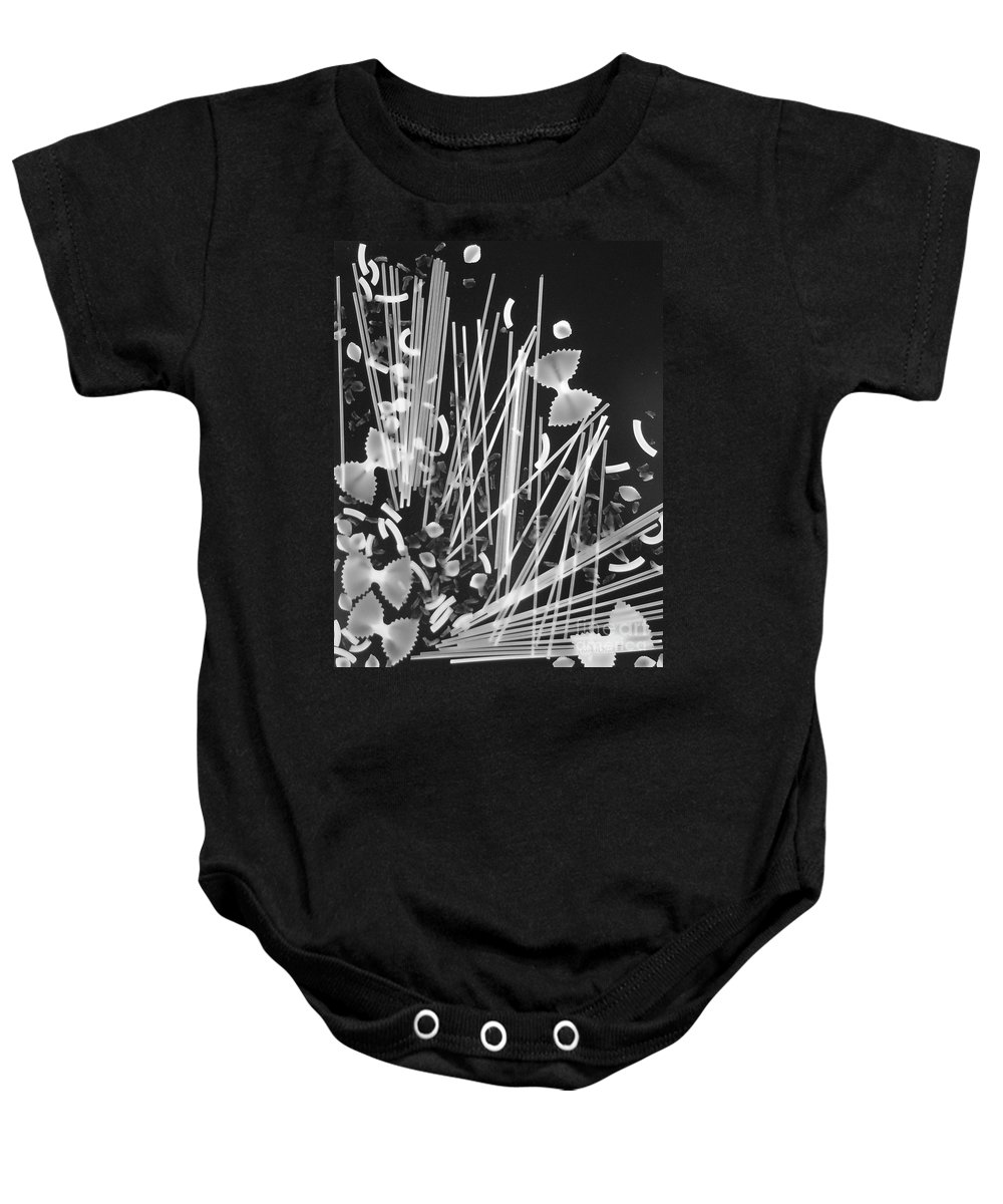 Pasta Baby Onesie featuring the photograph Oodles Of Noodles #3 by Robert ONeil