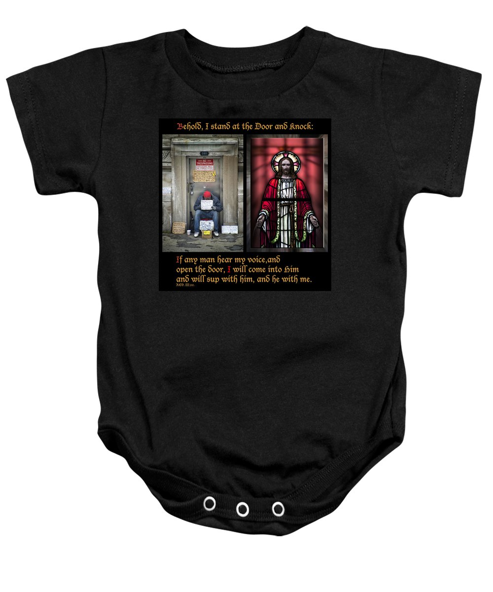 Abandoned Baby Onesie featuring the photograph Open The Door by Thomas Woolworth