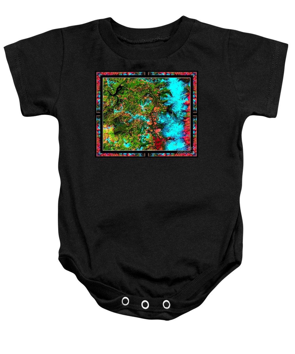 Oregon Baby Onesie featuring the photograph Oregon Cascades Nasa Satellite by Rose Santuci-Sofranko