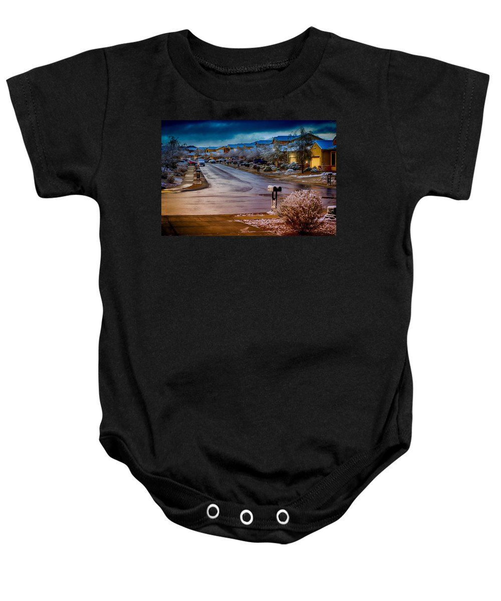 Myhaver Photography Baby Onesie featuring the photograph Oro Valley Winter No.54 by Mark Myhaver