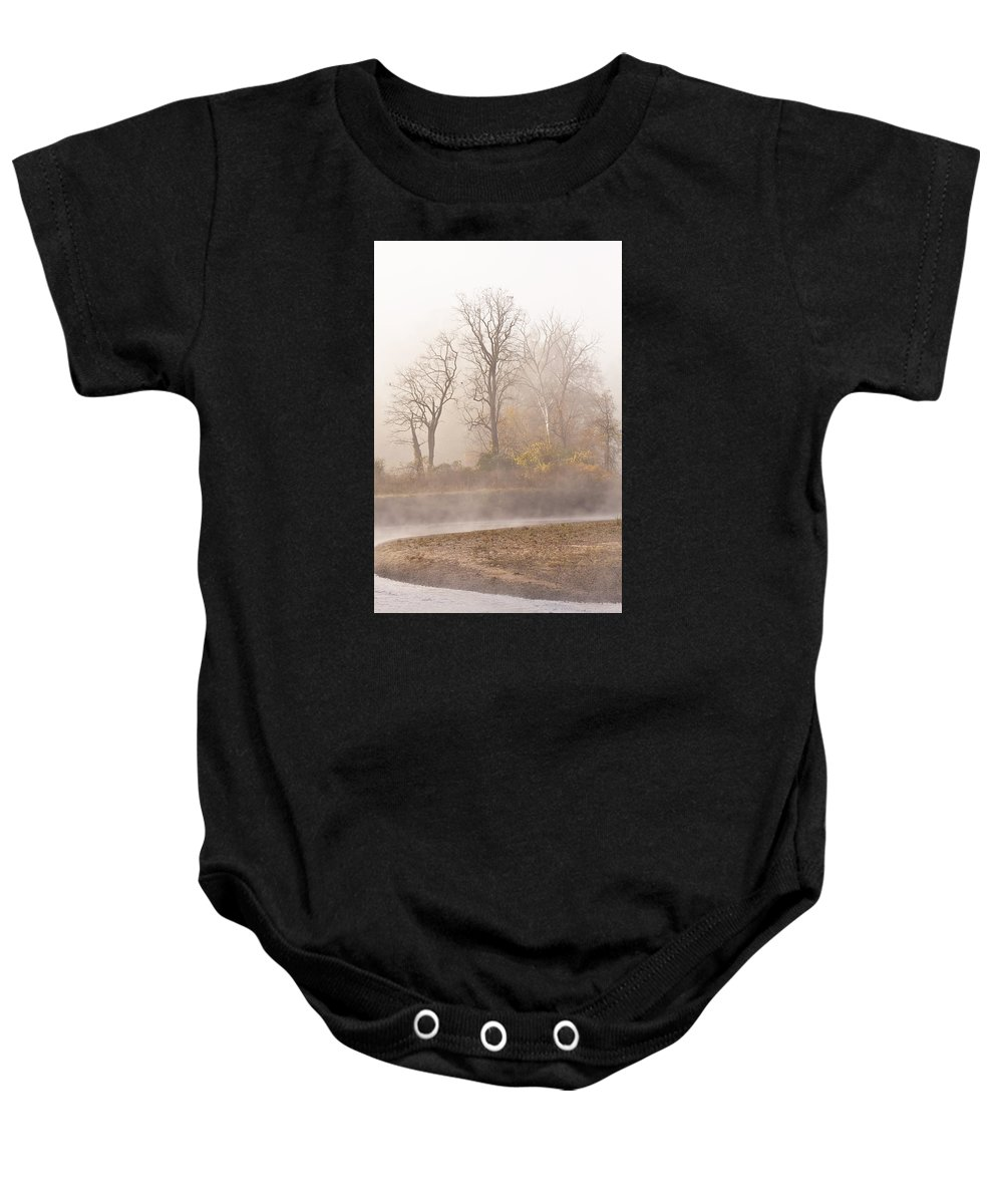 Landscape Baby Onesie featuring the photograph Out Of The Mist by Marcia Colelli