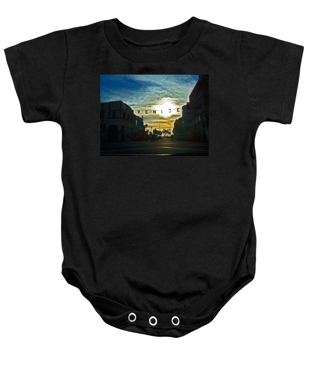 Cities Baby Onesie featuring the photograph Pacific Ave by Jennifer Robin