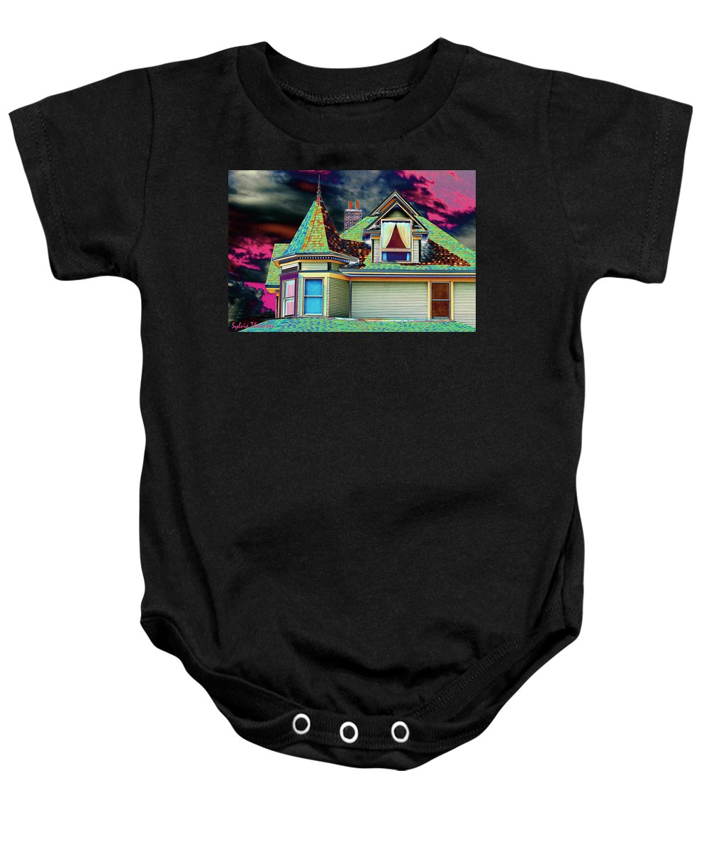 Painted Lady Baby Onesie featuring the photograph Painted Lady by Sylvia Thornton