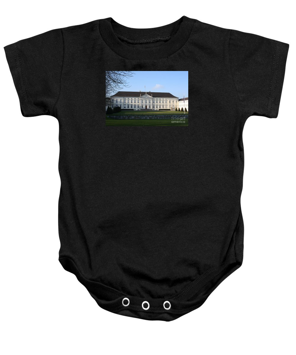 Palace Baby Onesie featuring the photograph Palace Bellevue - Berlin by Christiane Schulze Art And Photography