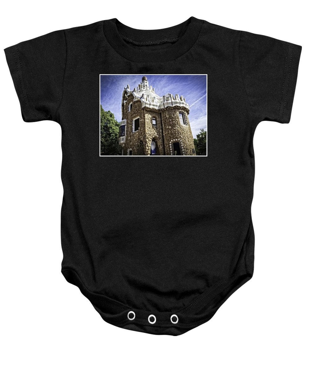 Gaudi Baby Onesie featuring the photograph Park Guell - Barcelona - Spain by Madeline Ellis