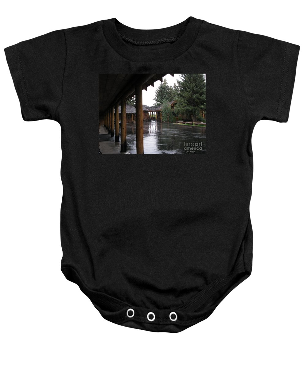 Patzer Baby Onesie featuring the photograph Parking Lot by Greg Patzer