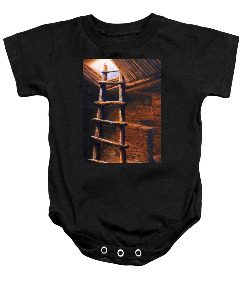 Anasazi Baby Onesie featuring the painting Passage by Jerry McElroy