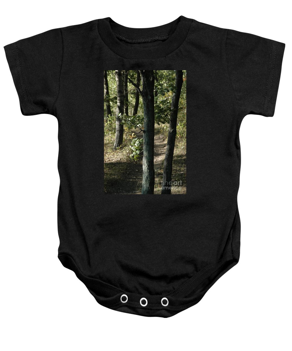 Atlanta Baby Onesie featuring the photograph Path Out by Joseph Yarbrough