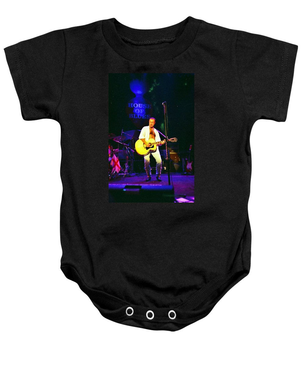 House Of Blues Chicago. Paul Rodgers Baby Onesie featuring the photograph Paul Rodgers by Sheryl Chapman Photography