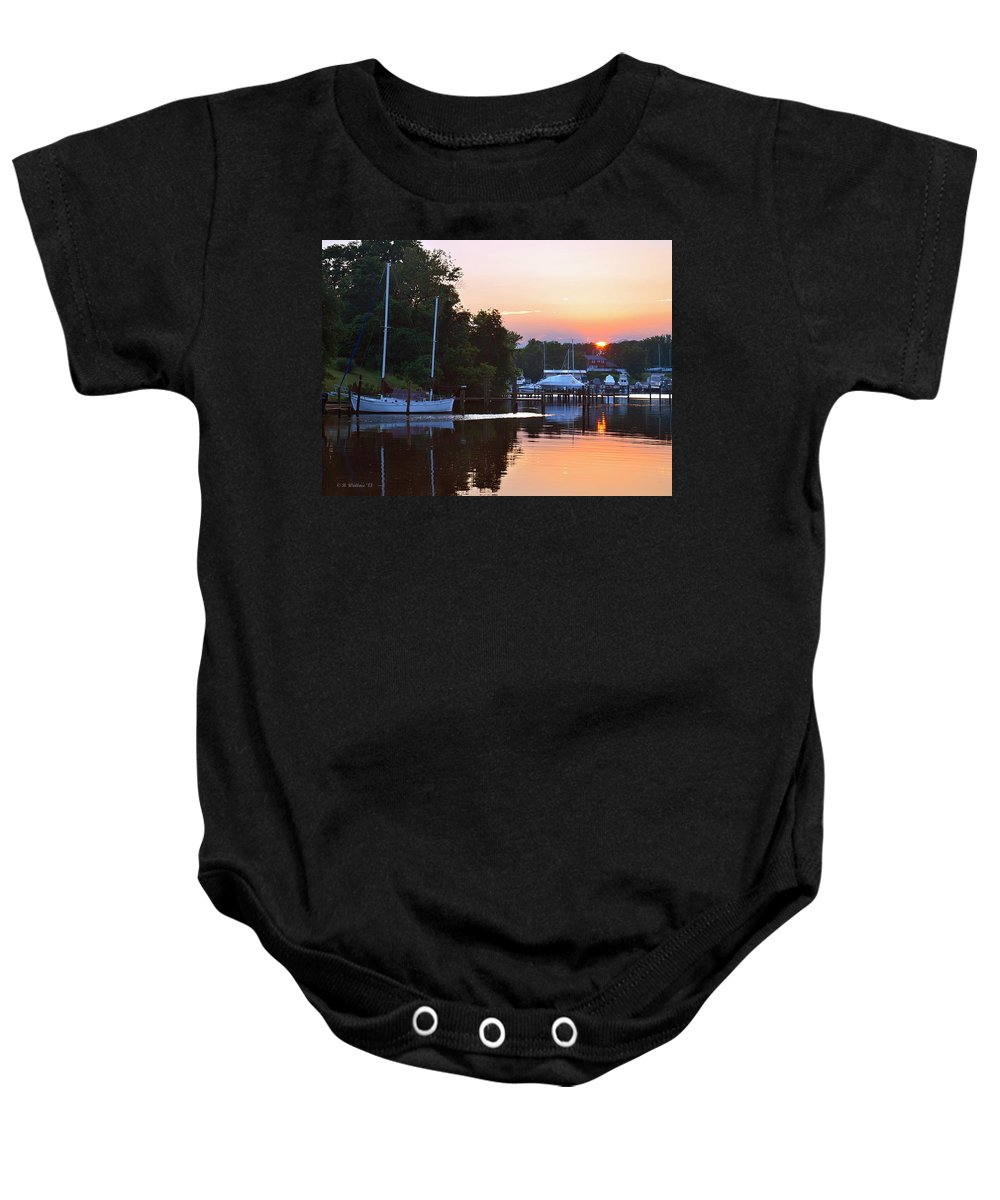 2d Baby Onesie featuring the photograph Peaceful Sunset by Brian Wallace
