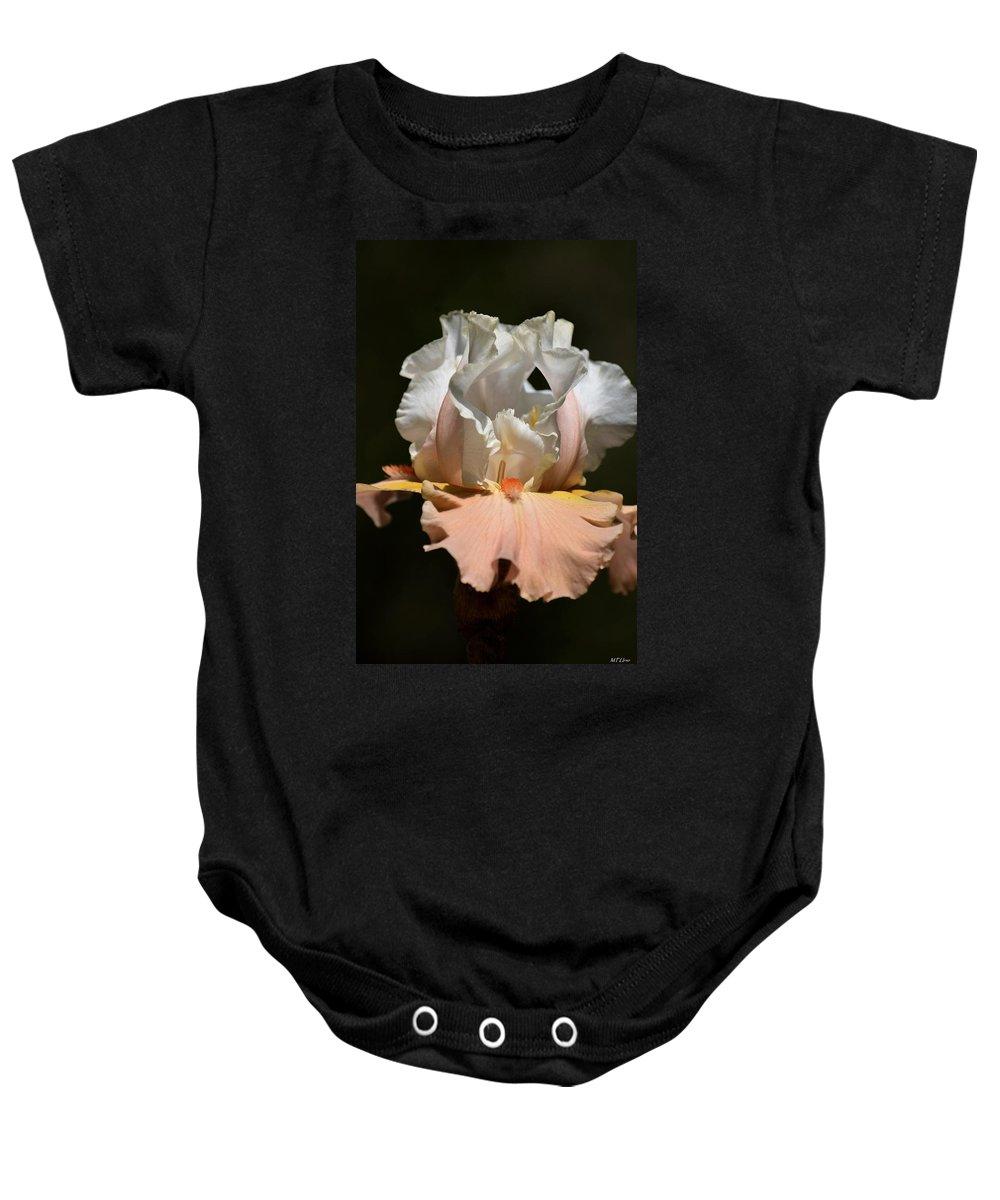 Peach Elegance Baby Onesie featuring the photograph Peach Elegance by Maria Urso