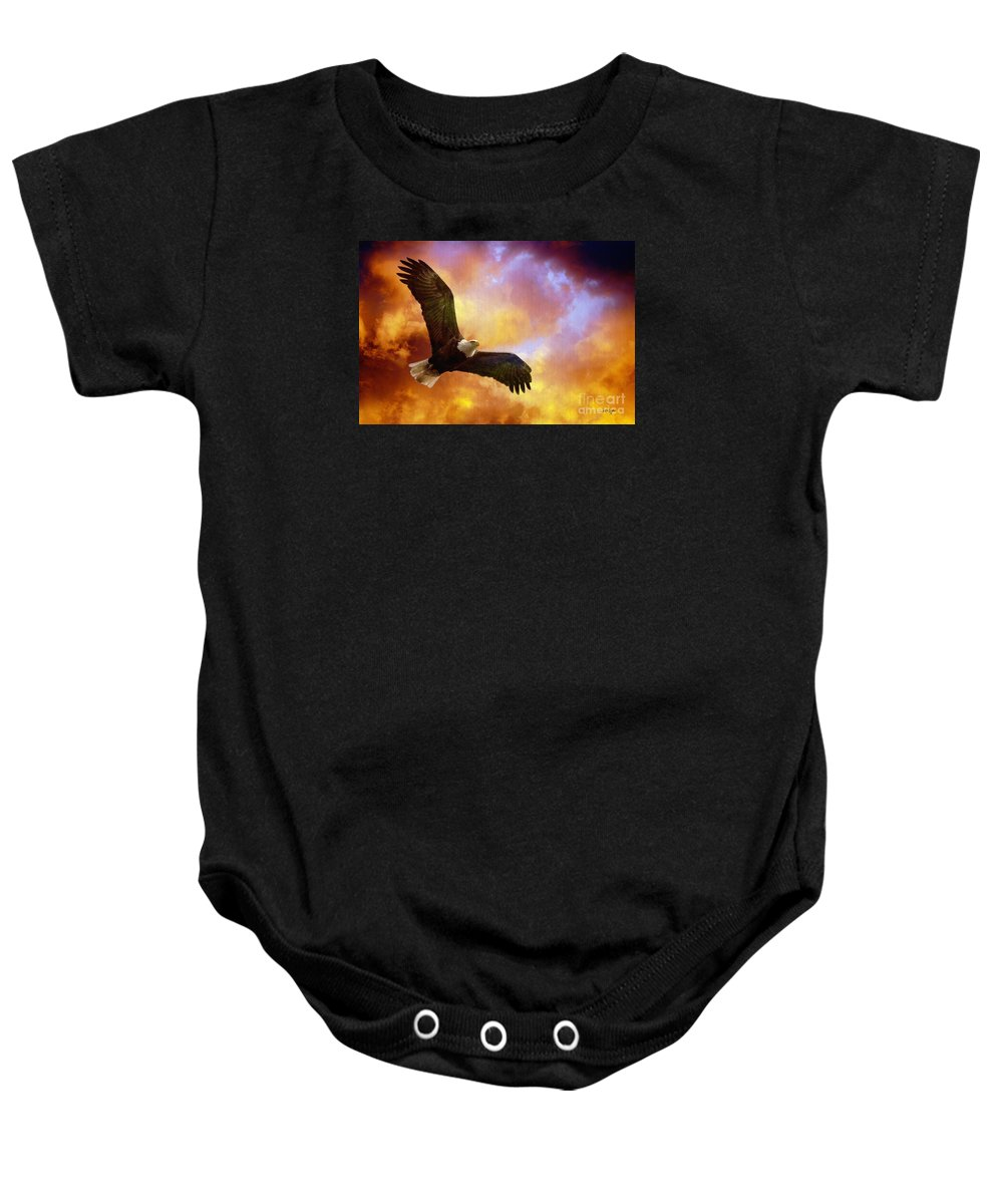 Eagle Baby Onesie featuring the photograph Perseverance by Lois Bryan