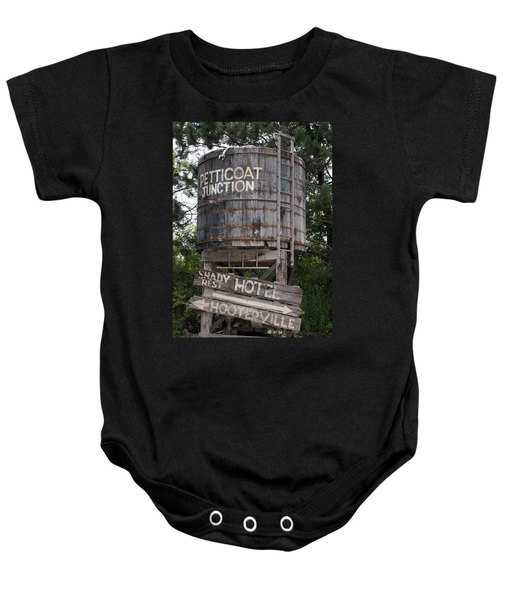 Petticoat Junction Baby Onesie featuring the photograph Petticoat Junction by Kristin Elmquist