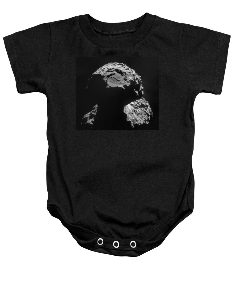 Comet Baby Onesie featuring the photograph Philae Landing Site On Comet 67pc-g by Science Source