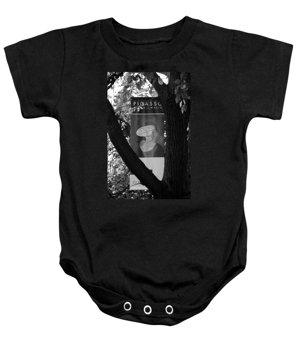 Scenic Baby Onesie featuring the photograph Picasso In Black And White by Rob Hans