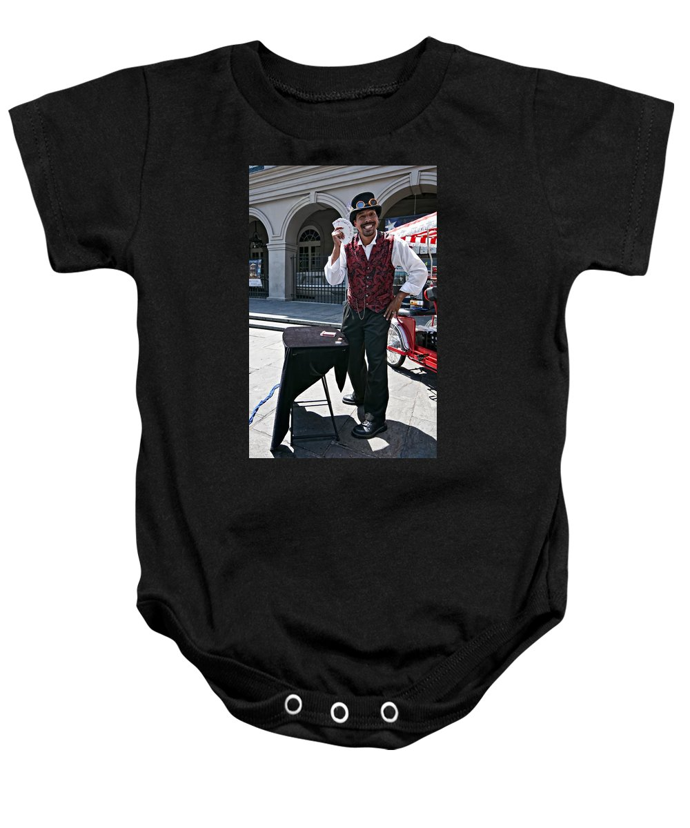 French Quarter Baby Onesie featuring the photograph Pick A Card...any Card by Steve Harrington