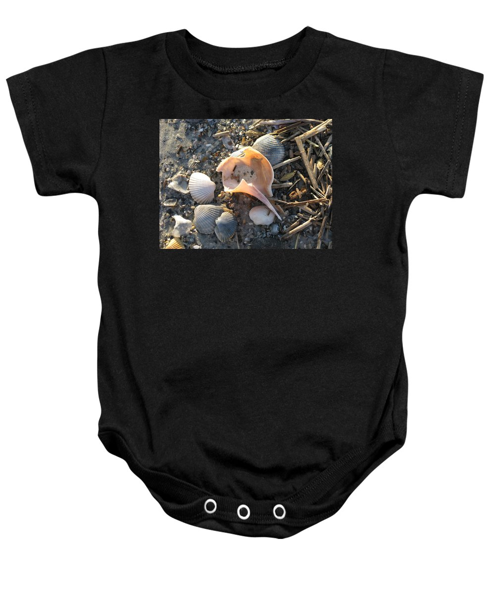 Landscape Baby Onesie featuring the photograph Pink Shell Bowl by Ellen Meakin