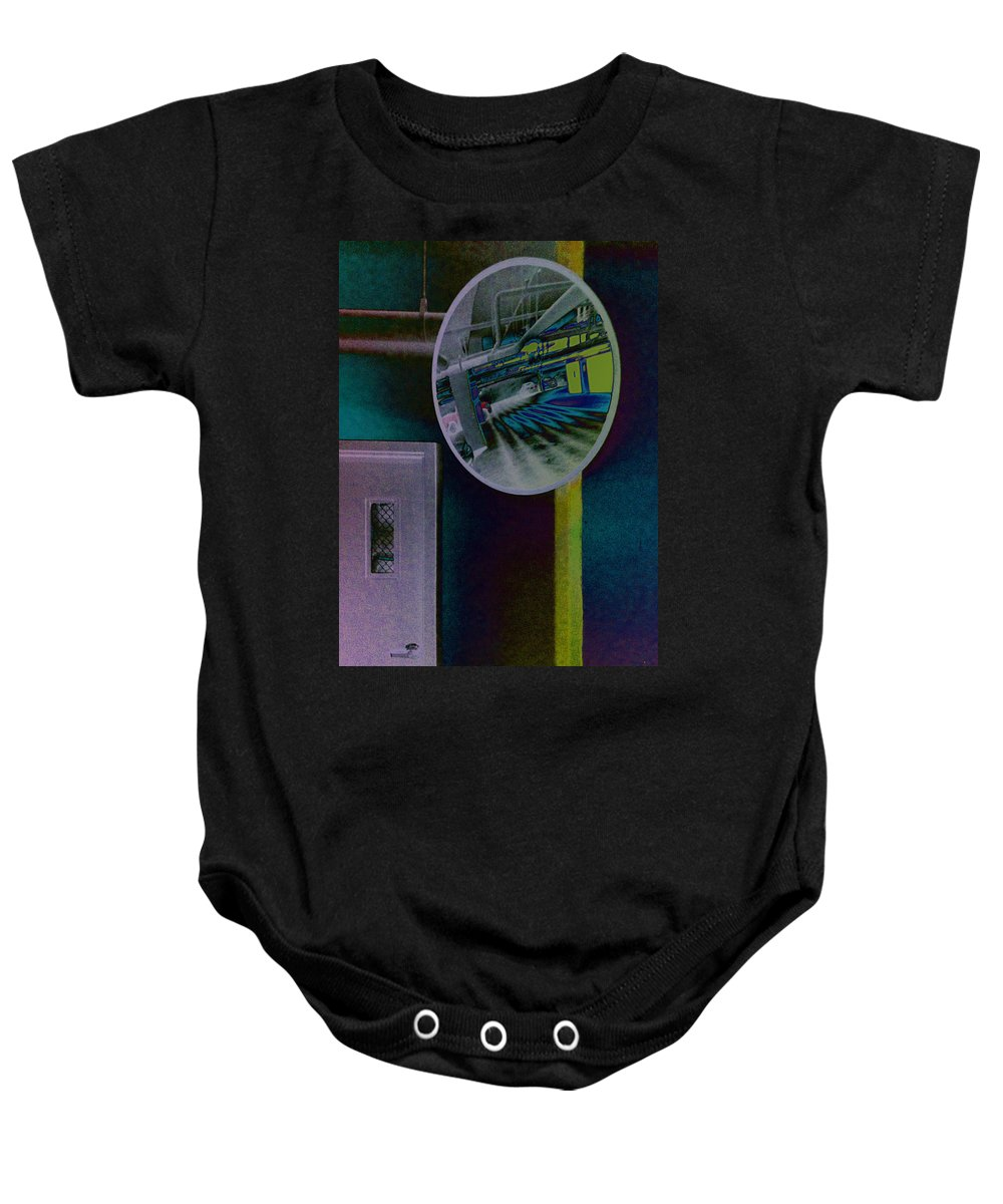 Mirror Baby Onesie featuring the photograph Pixel Parkade by David Pantuso