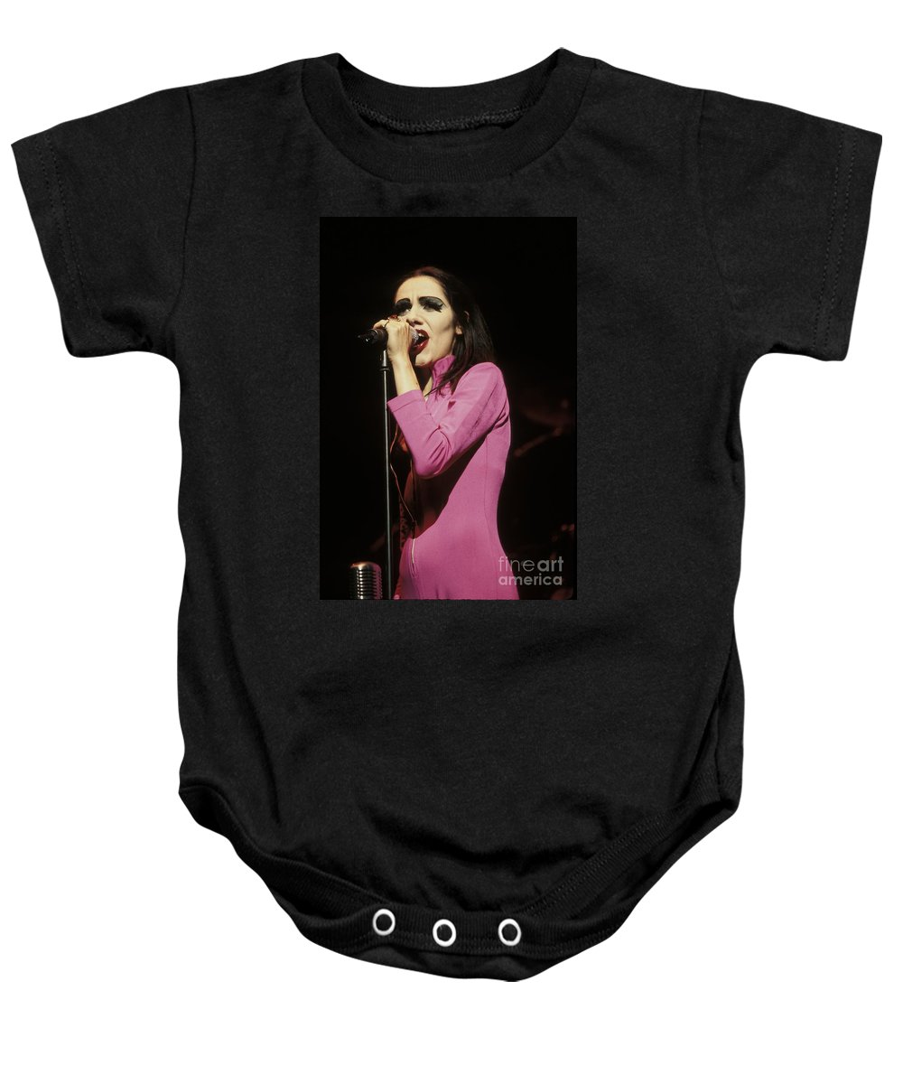 Musician Baby Onesie featuring the photograph Pj Harvey by Concert Photos