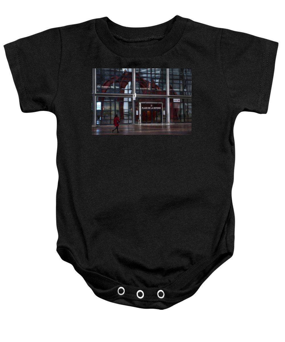 Arch Baby Onesie featuring the photograph Place De La Defense by Evie Carrier