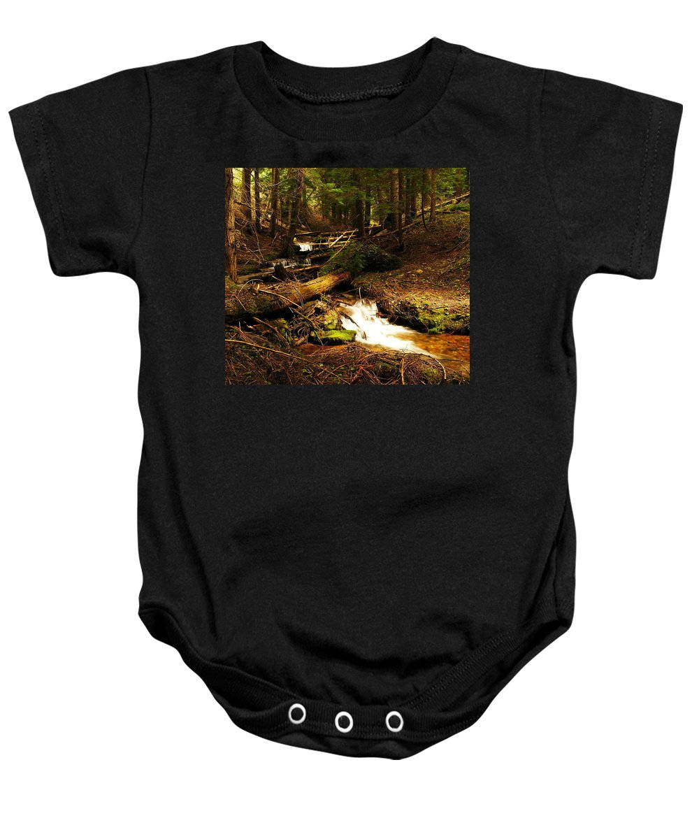Rivers Baby Onesie featuring the photograph Placer Creek by Jeff Swan