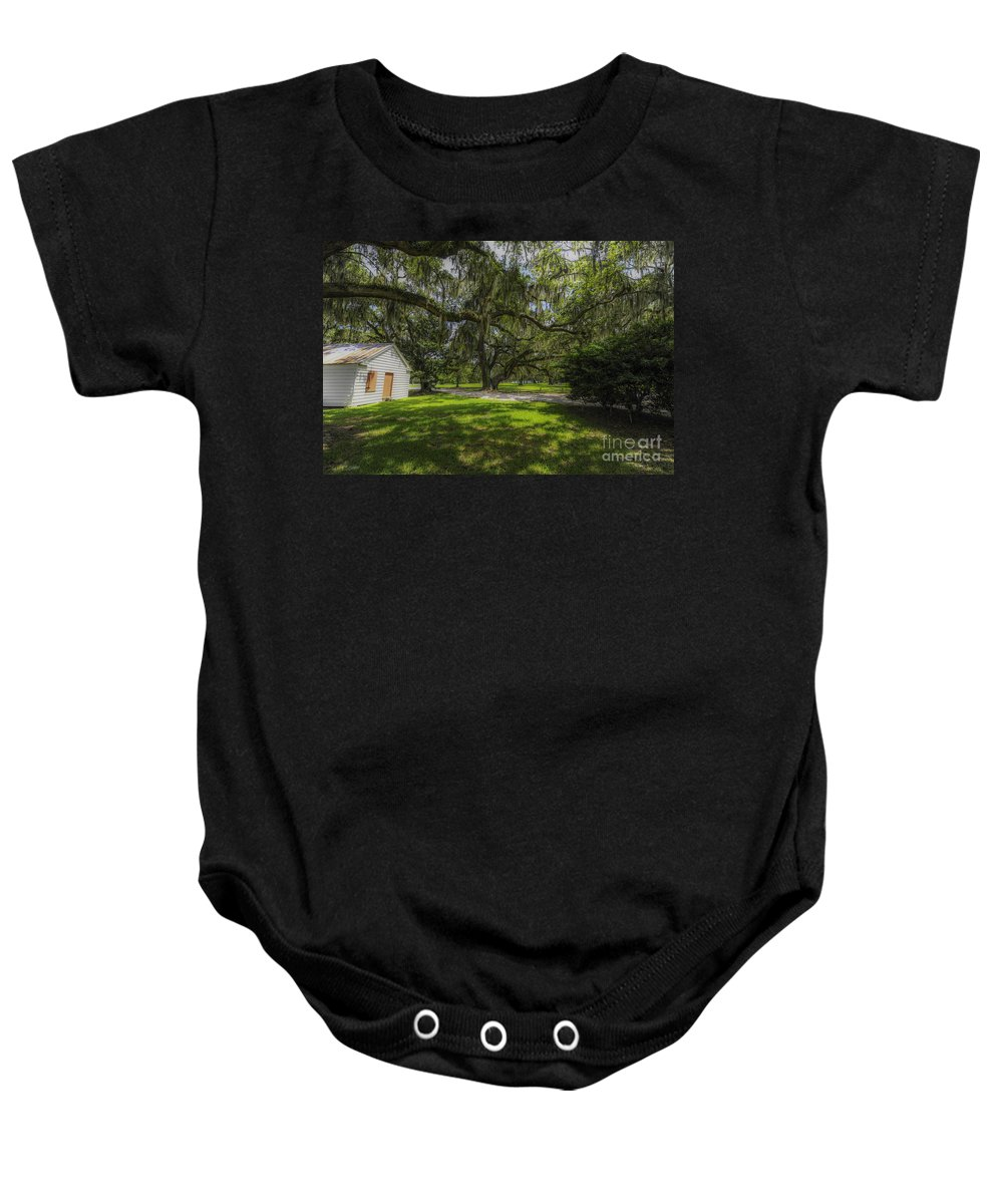 Plantation Baby Onesie featuring the photograph Plantation Grounds by Dale Powell