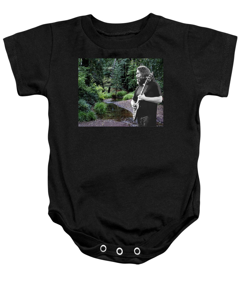 Grateful Dead Baby Onesie featuring the photograph Playing For The Creek 2 by Ben Upham