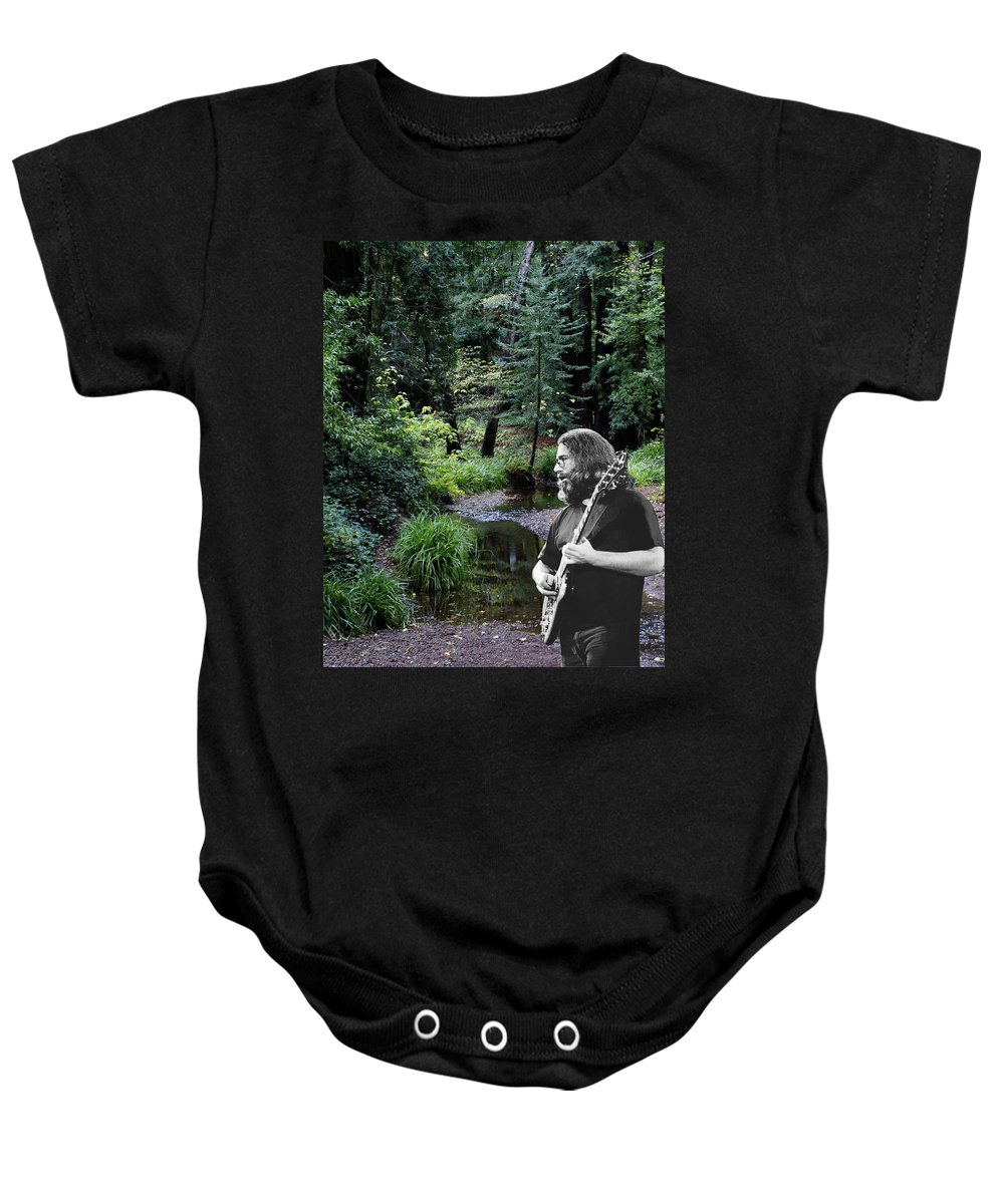 Grateful Dead Baby Onesie featuring the photograph Playing For The Creek 3 by Ben Upham