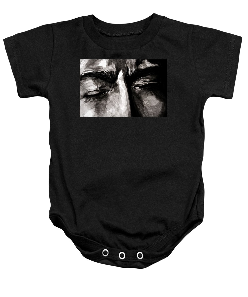 Ink Baby Onesie featuring the drawing Please Tell Me This Is All A Nightmare by Molly Picklesimer