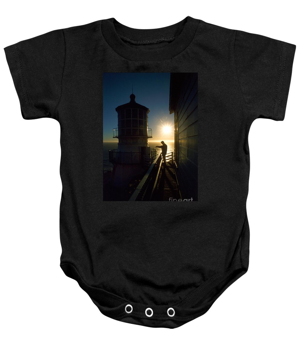 Lighthouse Baby Onesie featuring the photograph Point Reyes Lighthouse by Jerry McElroy