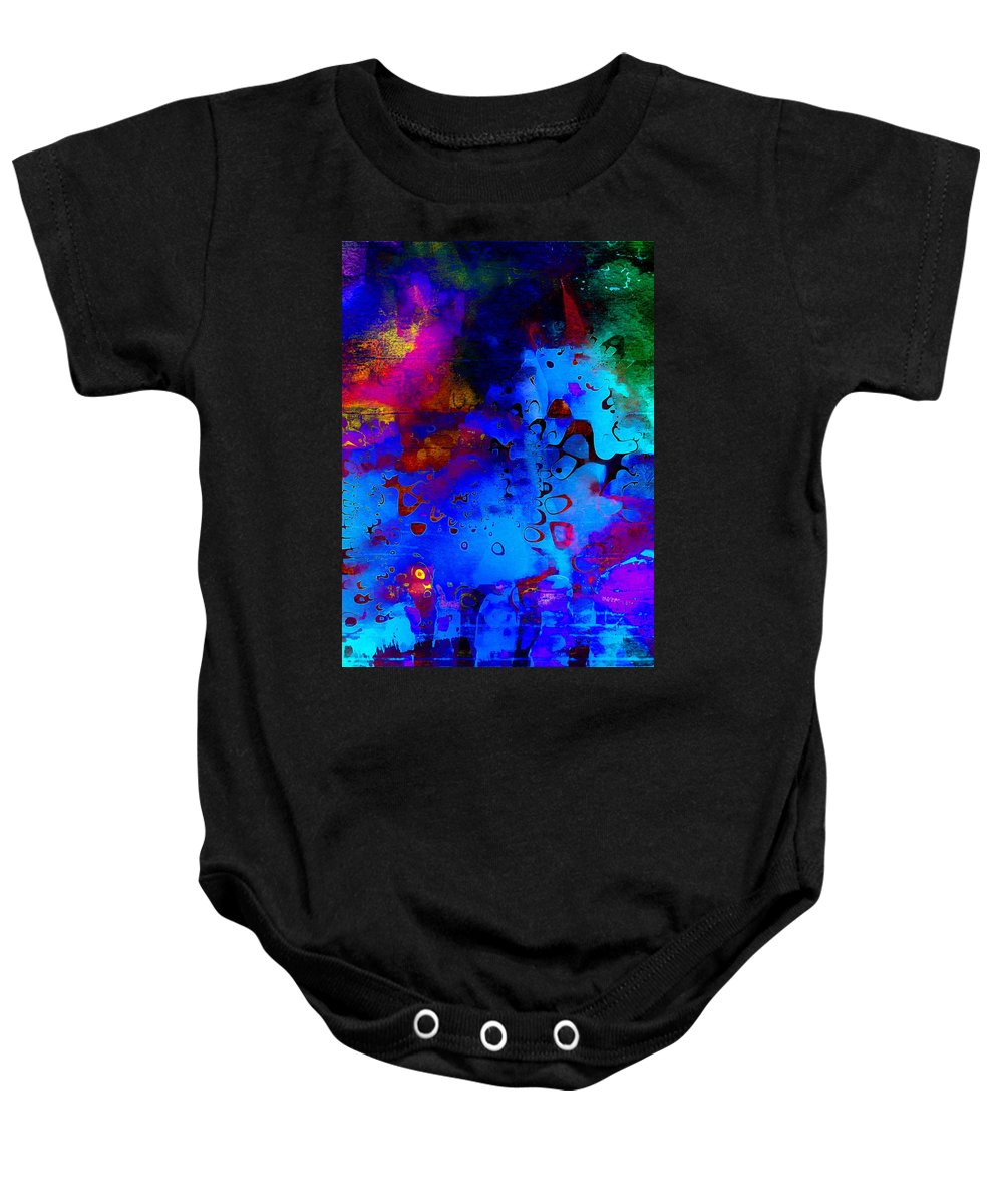 Digital Art Baby Onesie featuring the digital art Pond Life by Amanda Moore