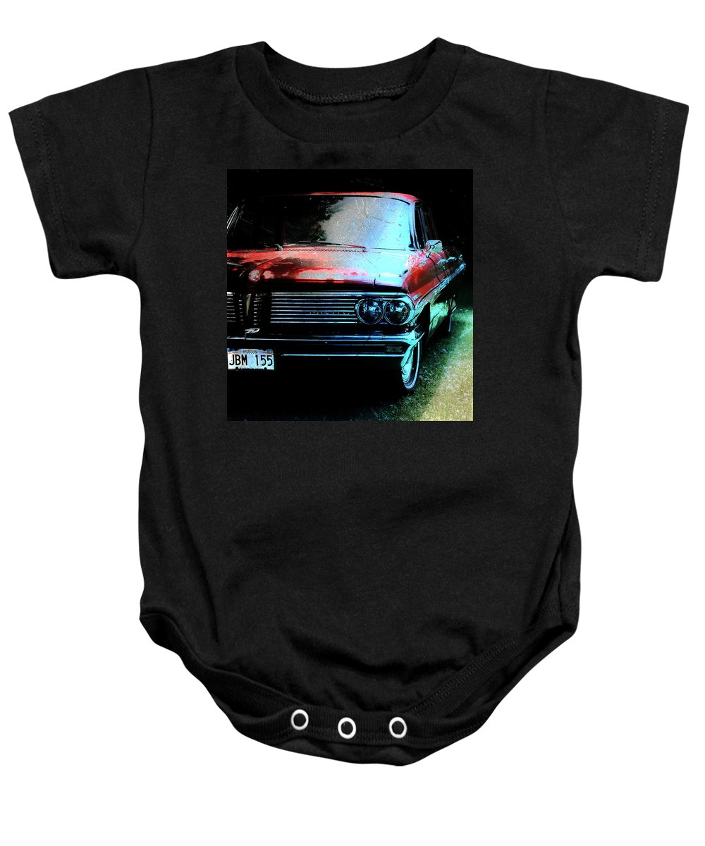 Pontiac Baby Onesie featuring the photograph Pontiac Shade N Sun by The Artist Project