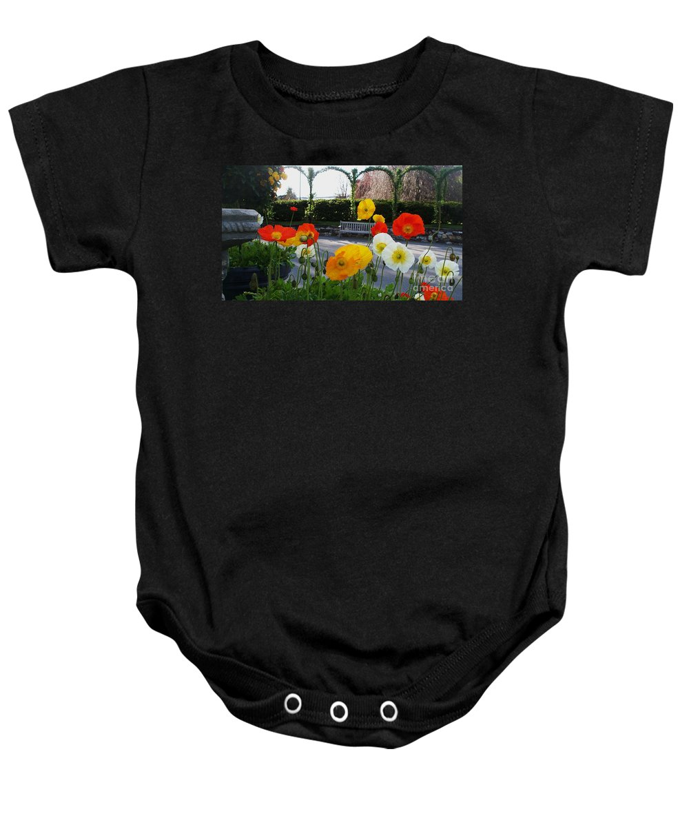 Poppies Baby Onesie featuring the photograph Poppies by Eric Schiabor