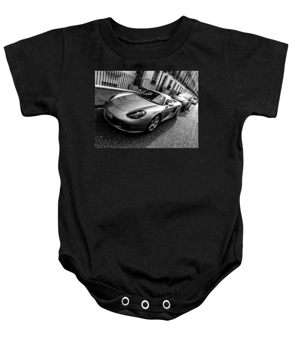 Porsche Baby Onesie featuring the photograph Porsche Carrera Gt by Dutourdumonde Photography