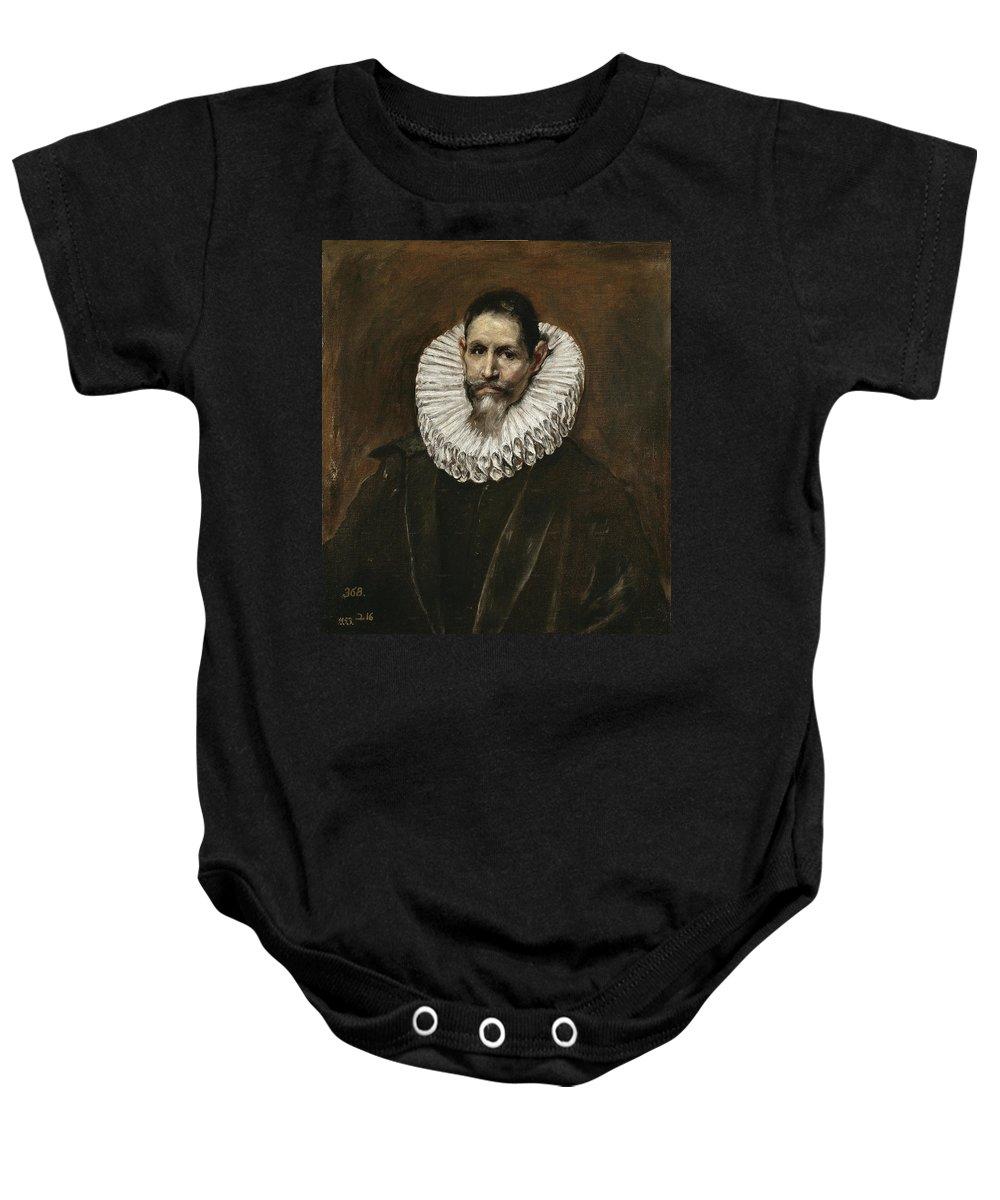 El Greco Baby Onesie featuring the painting Portrait Of Jeronimo Cevallos by El Greco