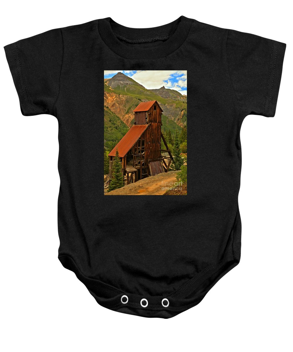 Yankee Girl Mine Baby Onesie featuring the photograph Portrait Of The Yankee Girl by Adam Jewell