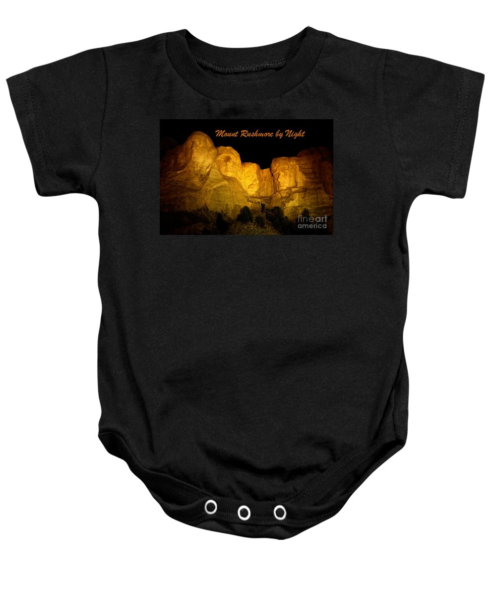 Mount Rushmore Baby Onesie featuring the photograph Poster Of Mount Rushmore by John Malone