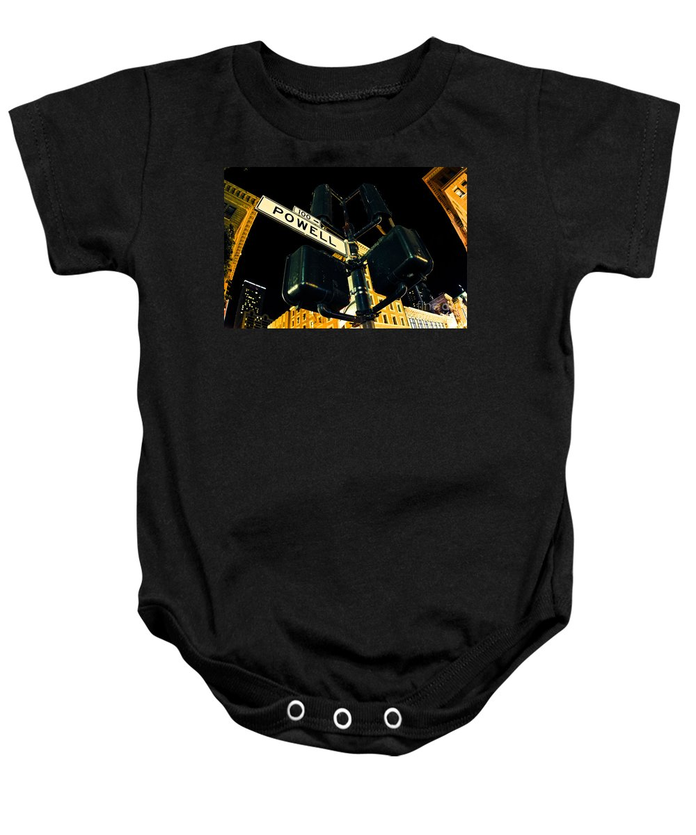 Streets Of San Francisco Baby Onesie featuring the photograph Powell Street by Digital Kulprits