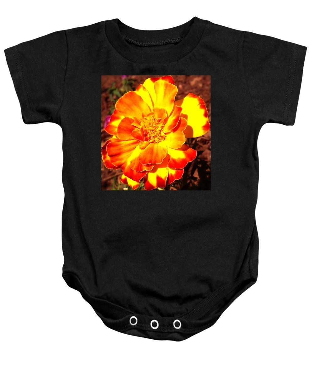 Flower Baby Onesie featuring the photograph Prettiest Flower In The Garden by Linda Hutchins