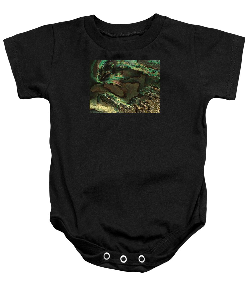 Contemporary Baby Onesie featuring the painting Primordial Life By Rafi Talby by Rafi Talby