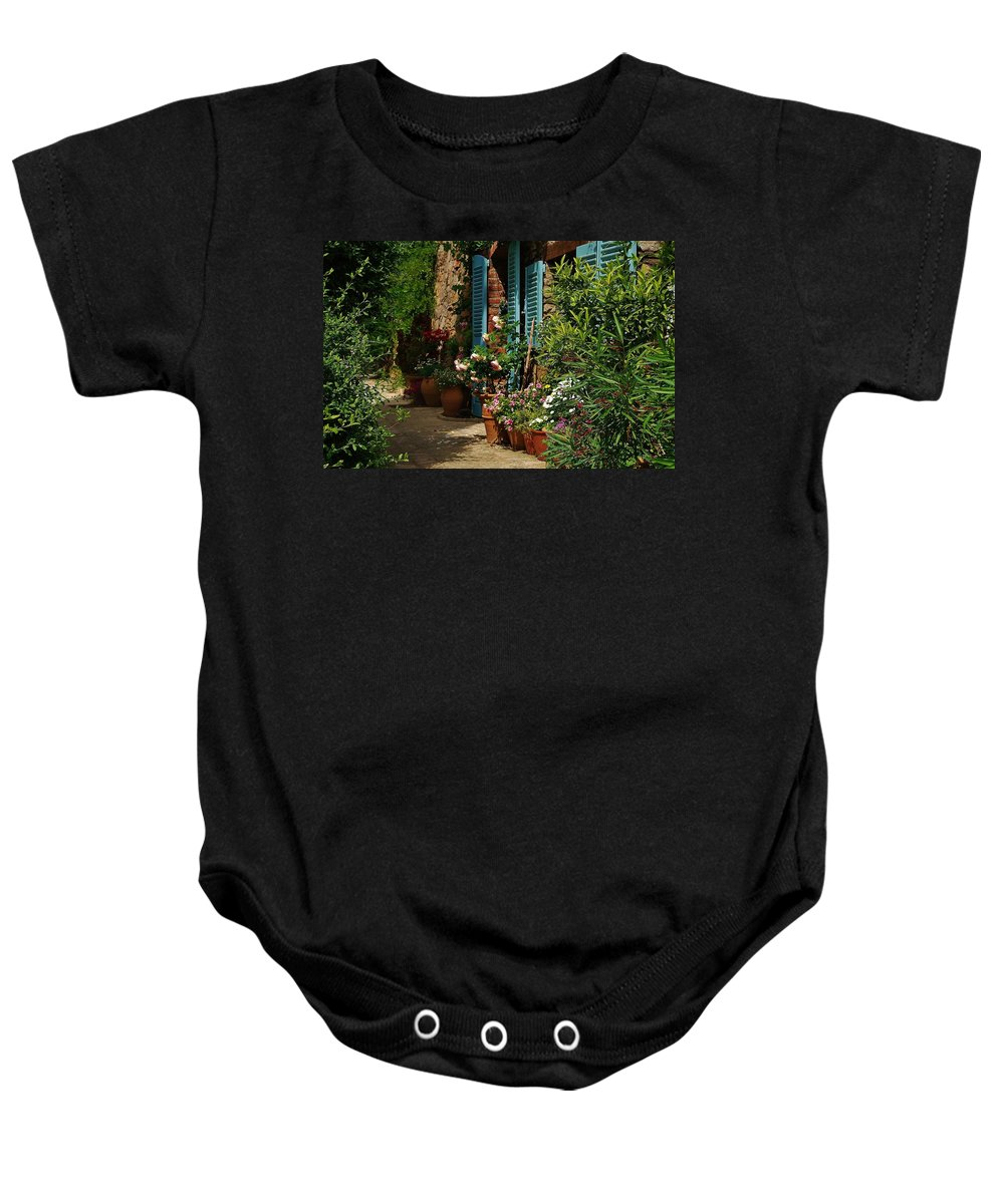 Provence Baby Onesie featuring the photograph Provencal Alley by Dany Lison