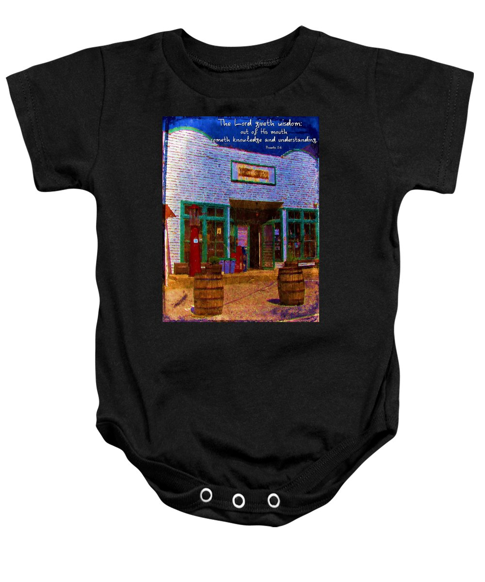 Jesus Baby Onesie featuring the digital art Proverbs 2 6 by Michelle Greene Wheeler