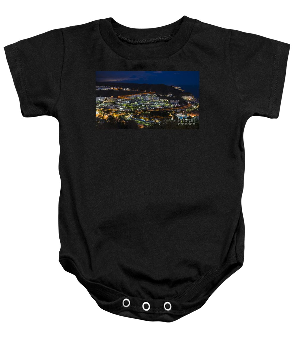 Puerto Baby Onesie featuring the photograph Puerto Rico By Night by Rob Hawkins