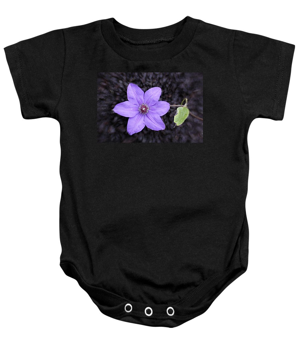 Purple Baby Onesie featuring the photograph Purple Beauty by Jean Macaluso