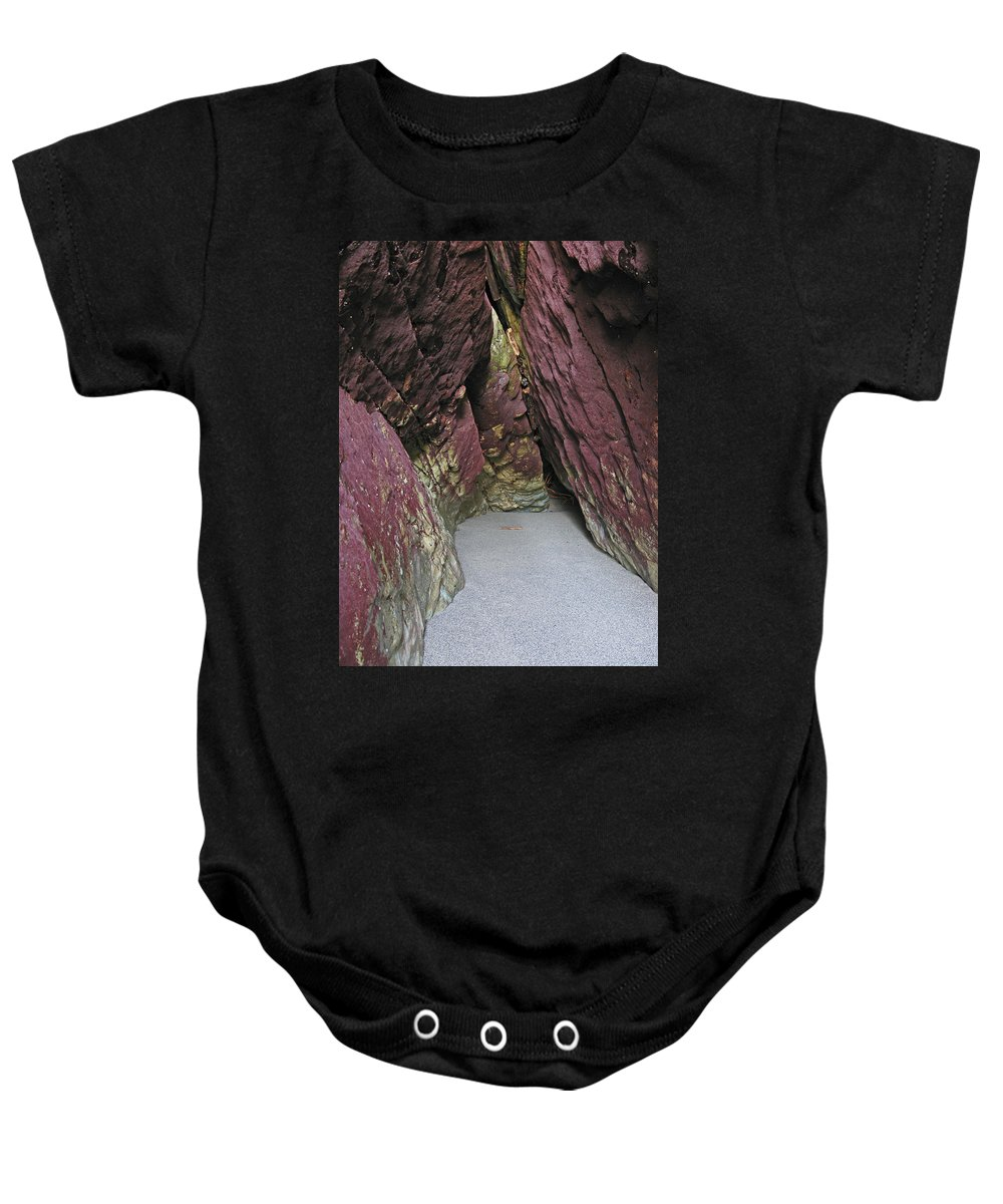 Art Sale Baby Onesie featuring the photograph Purple Caverns by John Irons