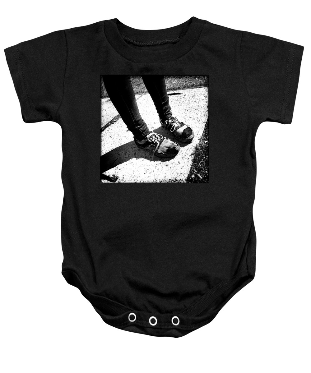 Lifestyle Baby Onesie featuring the photograph Ragged Shoes by Marco Oliveira