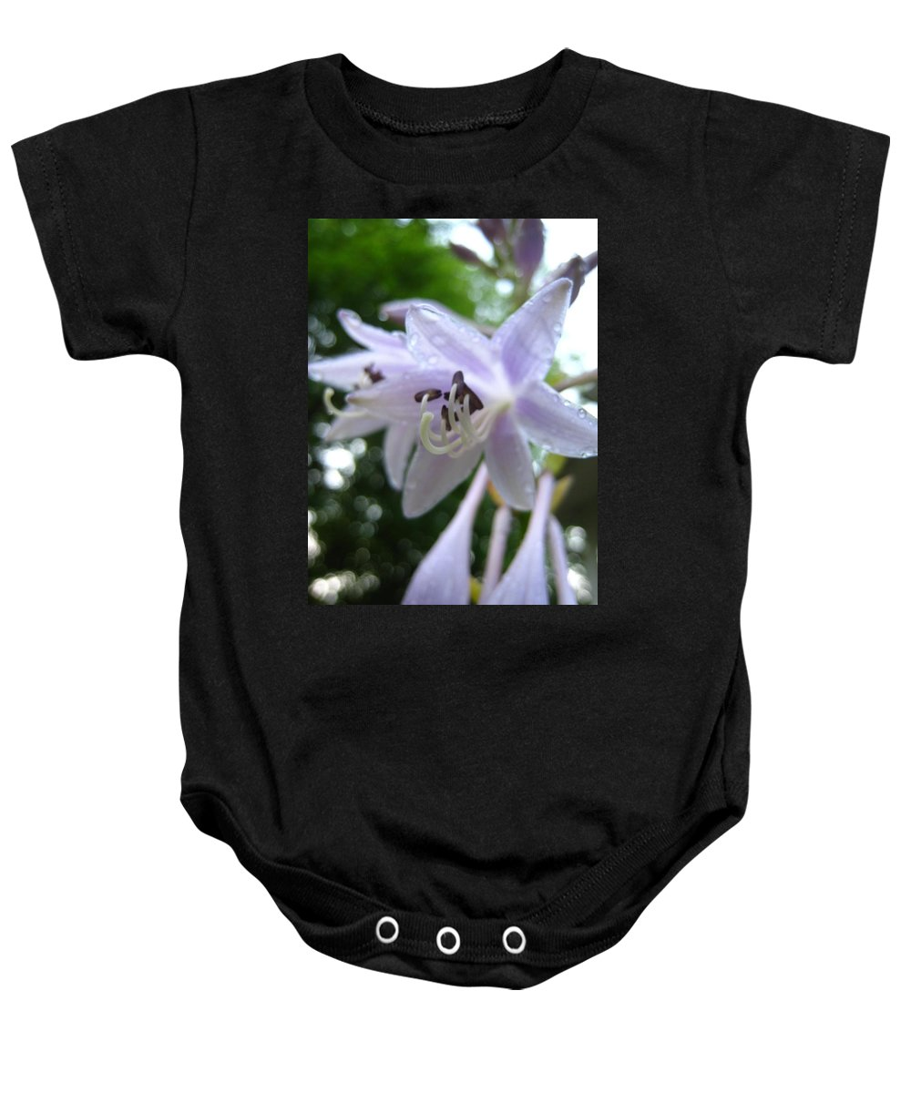 Inspirational Baby Onesie featuring the photograph Rainy Day Hasta by Jennifer E Doll